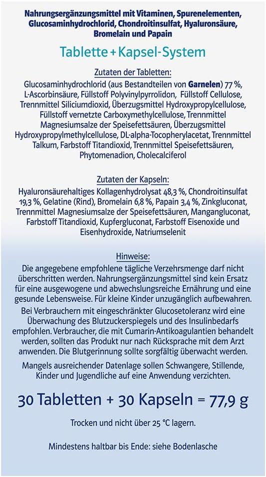 Doppel Herz Asset Glukosamiin Chondroitiin 30 kapslit